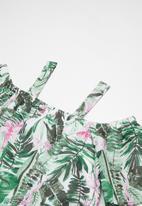 POP CANDY - Cold shoulder tropical dress - green