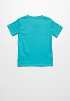 Lizzard - Aphro printed tee - blue