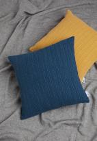 Sixth Floor - Waffle cushion cover - blue