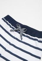 basicthread - Kids boys slouch pants - grey & navy