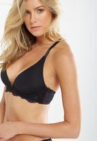 Cotton On - Phoebe plunge booster bra - black