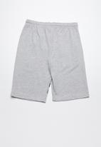 Twin Clothing - Printed fleece drawstring shorts - grey