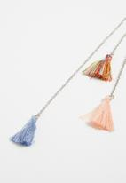 Jewels and Lace - Tassel hairclip - Multi