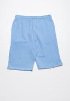 POP CANDY - Printed fleece drawstring shorts - blue
