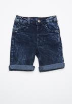 POP CANDY - Denim shorts mid - blue