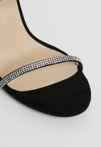 Footwork - Diamante heel - black