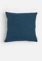 Sixth Floor - Waffle cushion cover - denim blue