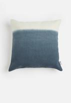 Sixth Floor - Ombre cushion cover - denim blue