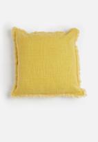 Sixth Floor - Slub cushion cover - mustard