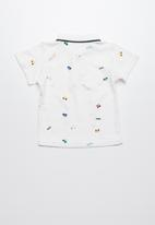 POP CANDY - Printed short sleeve golfer - white