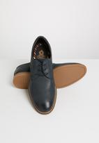 Base London - Cannock leather derby - navy