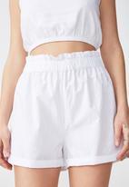 Cotton On - Maisy paper bag short - white