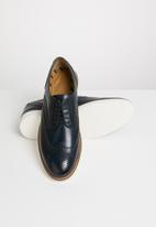 Base London - Orion leather brogue - blue & white