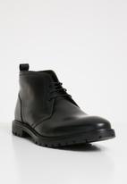 Base London - Trojan leather boot - black