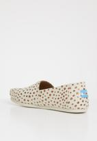 Toms - Natural canvas dot women's espadrille - beige & rose gold