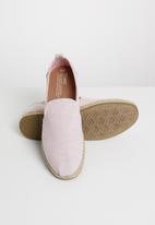 Toms - Blossom slub chambray women's deconstructed alpargatas - pink
