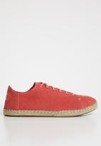 Toms - Hibiscus suede women's lean sneak - red