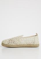 Toms - Lace leaves women's deconstructed espadrille - cream