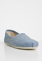 Toms - Slub chambray women's classics - blue