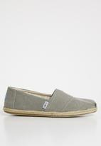 Toms - Drizzle washed canvas women's espadrilles - grey