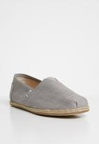 Toms - Linen rope sole man espadrille - grey