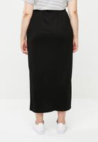 edit Plus - Maxi skirt with side slits - black