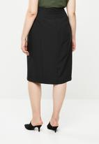edit Plus - Tailored pencil skirt - black