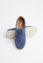 Toms - Cadet heritage canvas man culver boat shoe - blue