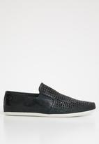 Base London - Stage leather weave - navy