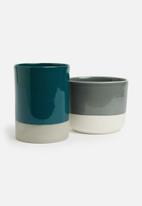 Urchin Art - Cylinder vase - teal