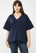 STYLE REPUBLIC PLUS - Oversized blouse - navy