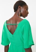 c(inch) - Tie front dress - green