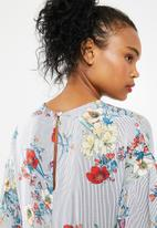 Superbalist - Striped floral easy shift dress - multi