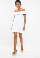Superbalist - White bardot dress - white