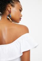 Superbalist - White bardot dress - white