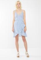 Vero Moda - Summer wrap dress - blue