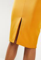 Superbalist - Midi bodycon skirt - yellow