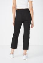 Cotton On - Mid rise straight jeans - black