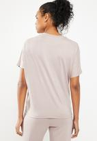 Superbalist - T-shirt with gather detail - neutral