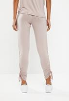 Superbalist - Jogger pants with gather detail - neutral