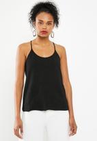 Jacqueline de Yong - Jenn sleevless glitter top - black