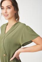 Cotton On - Woven jordy jumpsuit - khaki