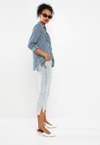 Jacqueline de Yong - Elaine striped shirt - blue