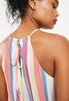 Superbalist - Stripe hi neck romper - multi stripe