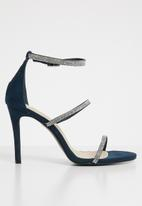 Footwork - Diamante heel - blue