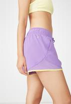 Cotton On - Run mesh shorts - purple & yellow