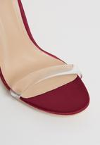 Footwork - Embellished ankle strap heels - burgundy