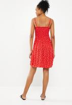 Jacqueline de Yong - Cecilia smock dress - red