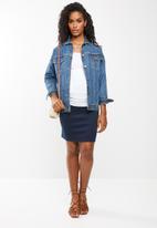 edit Maternity - Maternity knit pencil skirt - navy