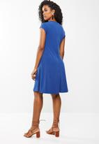 edit Maternity - Fit and flare dress - blue